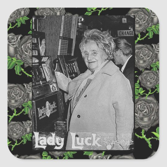 Lady Luck Square Sticker