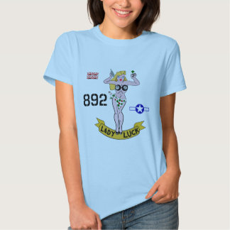 Lady Luck WWII Nose Art T-shirt