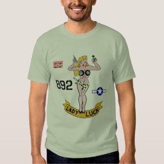 Lady Luck WWII Nose Art T Shirt