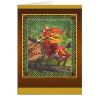 Lady Lunete greeting card