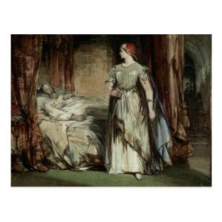 Lady Macbeth, 1850 Postcard