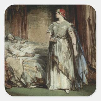 Lady Macbeth, 1850 Square Sticker
