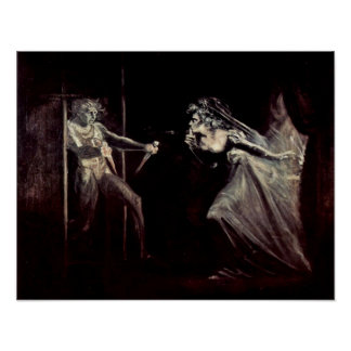 Lady Macbeth receives daggers by Henry Fuseli Posters