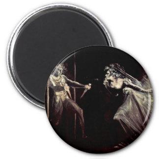 Lady Macbeth Receives The Daggers, Lady Macbeth Ta 2 Inch Round Magnet