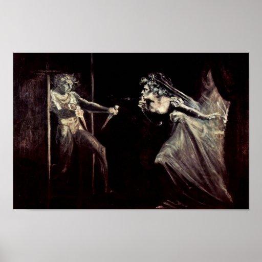 Lady Macbeth Receives The Daggers, Lady Macbeth Ta Poster