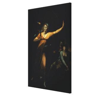 Lady Macbeth Sleepwalking, 1783 (oil on canvas) Canvas Print