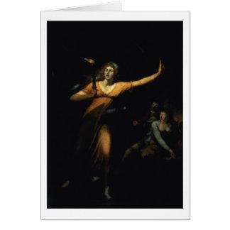 Lady Macbeth Sleepwalking, 1783 (oil on canvas) Card