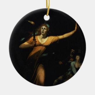 Lady Macbeth Sleepwalking, 1783 (oil on canvas) Ceramic Ornament