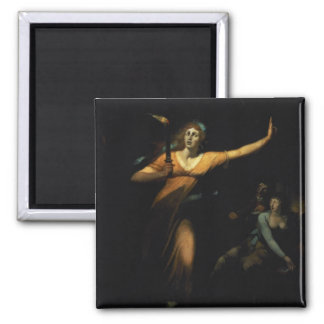 Lady Macbeth Sleepwalking, 1783 (oil on canvas) 2 Inch Square Magnet