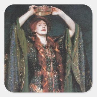 Lady Macbeth Square Sticker