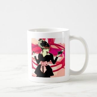 Lady makeup coffee mug