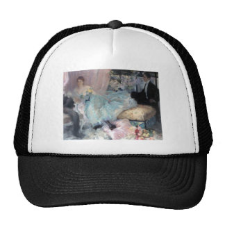 Lady Man Courtship painting Trucker Hat