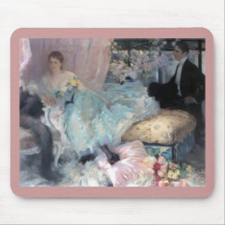 Lady Man Courtship painting Mouse Pad