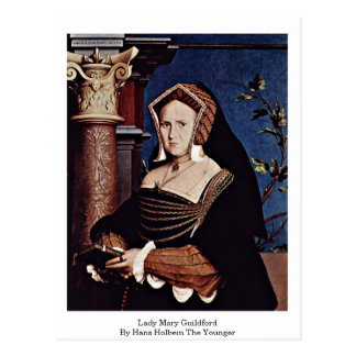 Lady Mary Guildford By Hans Holbein The Younger Postcard