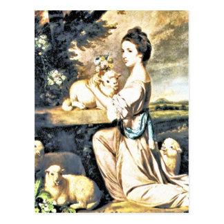 Lady Mary Leslie Postcard