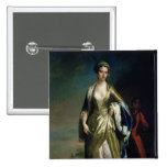 Lady Mary Wortley Montagu, c.1725 2 Inch Square Button