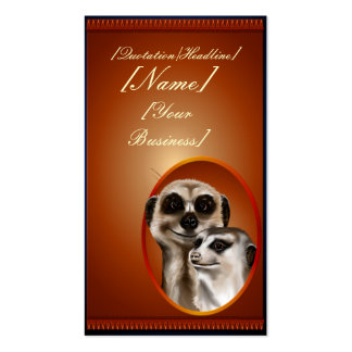 Lady Meerkat  profilecard_business_vertical., [... Double-Sided Standard Business Cards (Pack Of 100)
