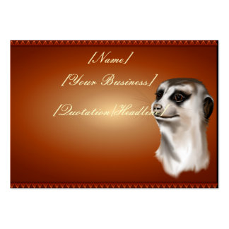 Lady Meerkat profilecard_chubby_horizontal., [N... Large Business Cards (Pack Of 100)