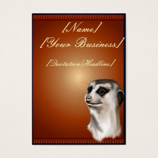 Lady Meerkat profilecard_chubby_vertical, [Name... Business Card