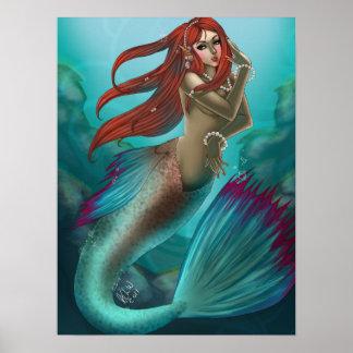 Lady Mermaid Poster