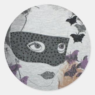 Lady Mistery Classic Round Sticker