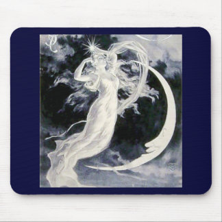 Lady Moon Stars Mouse Pad