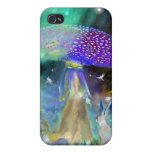 Lady Mushroom and Rabbit Tale iPhone 4 Case