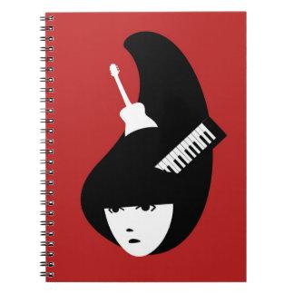 Lady Music Notebook