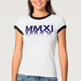Lady New Year, Roman Numerals T-Shirt