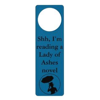 Lady of Ashes Door Hanger, Blue - Shh Door Hanger