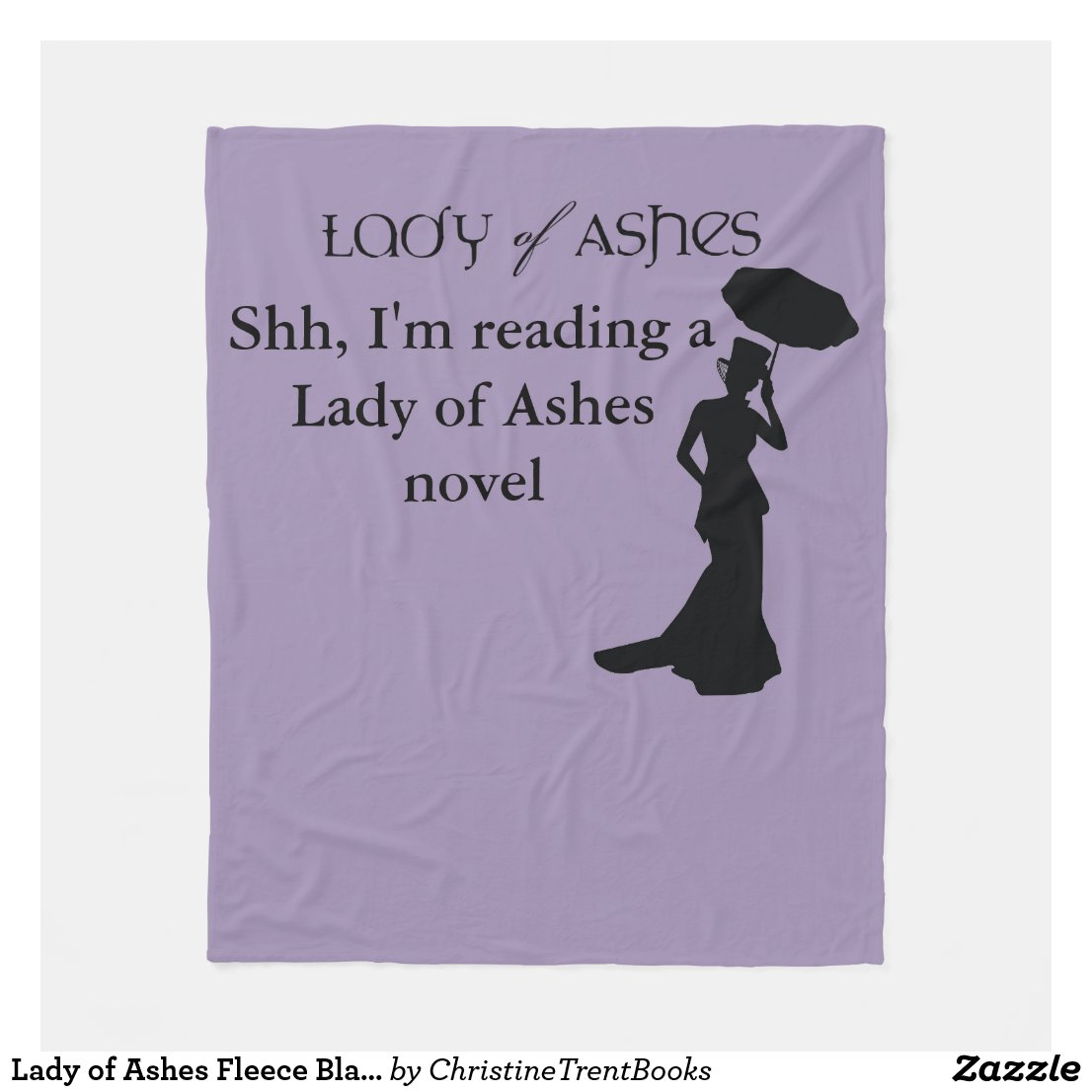Lady of Ashes Fleece Blanket - Shh