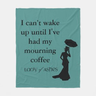 Lady of Ashes Fleece Blanket - Wake Up