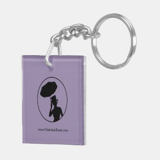 Lady of Ashes Keychain, Dbl Sided - Keys Hearse Keychain