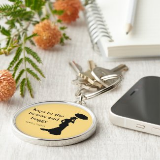 Lady of Ashes Keychain, Rnd Gold, - Keys to Hearse Keychain