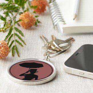 Lady of Ashes Keychain, Rnd, - Keys to Hearse Keychain