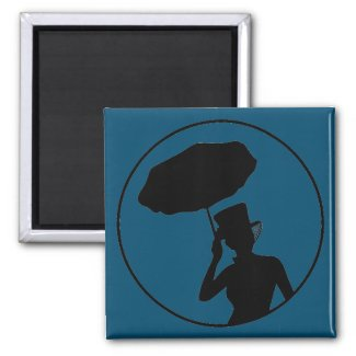 Lady of Ashes Magnet, Blue Magnet