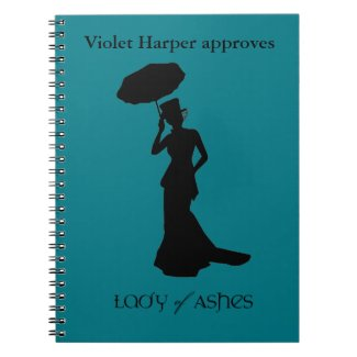 Lady of Ashes Spiral Notebook - Violet Approves
