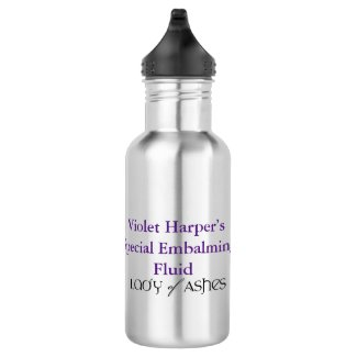 Lady of Ashes Water Bottle - Embalming Fluid