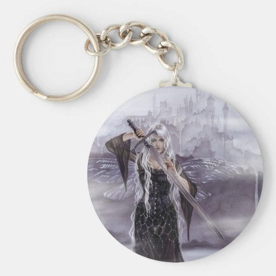Lady of Avalon Keychain