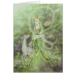 Lady of Compassion Greeting Card