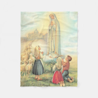 Lady of Fatima Three Children Sheep Church Fleece Blanket