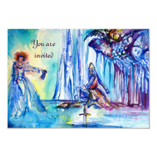 LADY OF LAKE EXCALIBUR Magic and Mystery Parchment 3.5x5 Paper Invitation Card