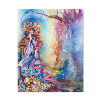 LADY OF LAKE , Magic and Mystery Canvas Print