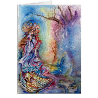 LADY OF LAKE , Magic and Mystery Greeting Card