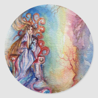 LADY OF LAKE , Magic and Mystery Classic Round Sticker