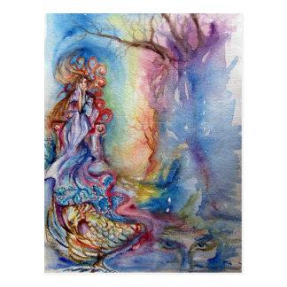 LADY OF LAKE , Magic and Mystery Postcard