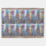 LADY OF LAKE , Magic and Mystery Throw Blanket