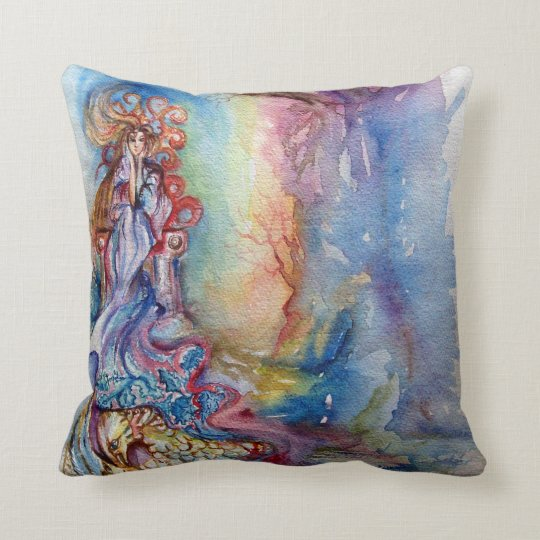 LADY OF LAKE , Magic and Mystery Throw Pillow