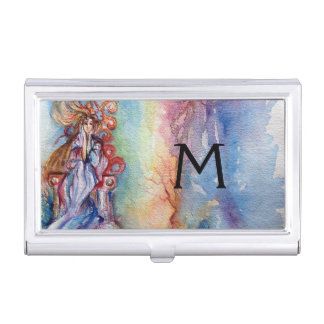 LADY OF LAKE MONOGRAM, Magic and Mystery Business Card Case