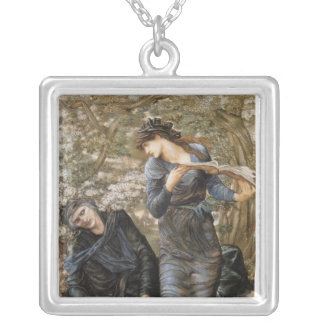 Lady of Lake Square Pendant Necklace